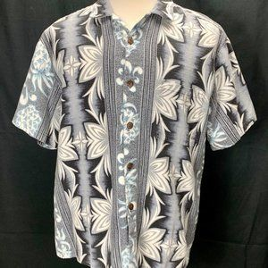 Hilo Hattie Barkcloth Hawaiian Shirt Mens Vintage